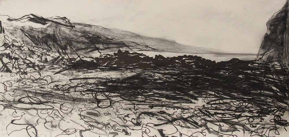 Drawing of North Cornwall Coastline