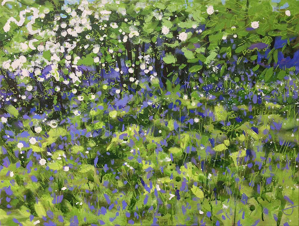 Bluebell Painting by artist Joe Webster
