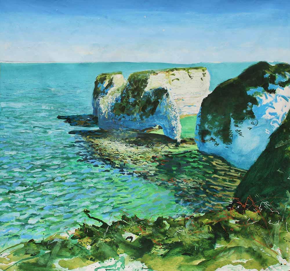 'Blazing Sun and Bitter Wind' Painting by Devon landscape artist Joe Webster