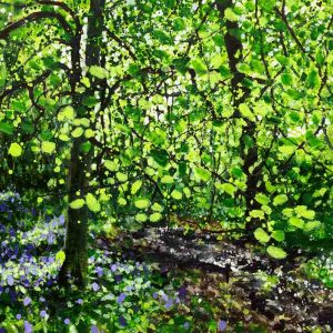 British bluebell painting