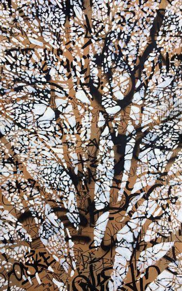 'Tagged Tree Reflections II' by artist Joe Webster