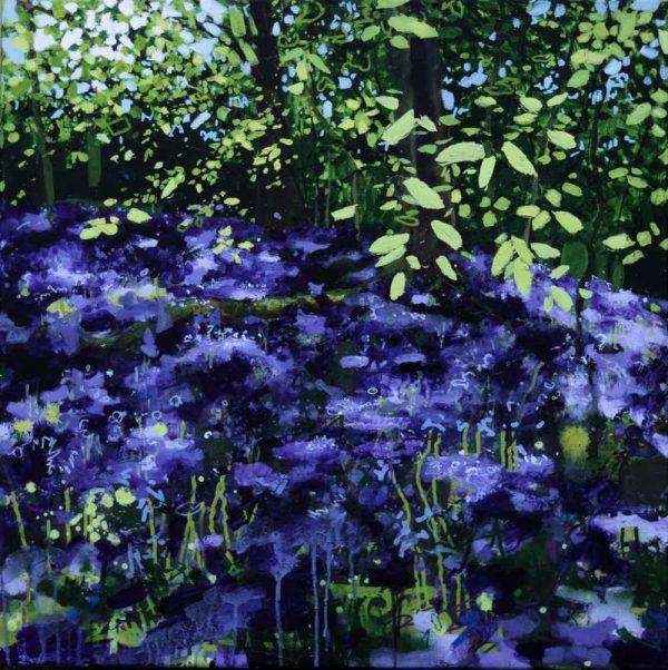 23 Beetles in the Bluebells, Original Painting by Joe Webster