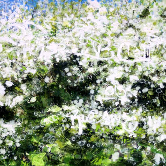 Blackthorn, Brambles & Lichen, Original Painting by Joe Webster