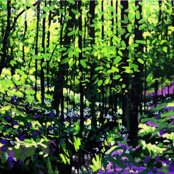 Black and Indigo, Inbetween the Showers II, Original Painting by Joe Webster