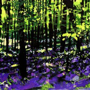 Black and Indigo, Inbetween the Showers I, Original Painting by Joe Webster