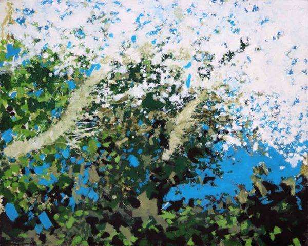 Blue Sky with Blackthorn by Landscape-Graffiti Artist Joe Webster