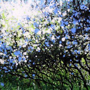 'Cleanse', Glowing Hedgerow, Original Painting by Joe Webster