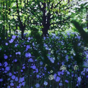 'Glade' Chasing the last Bluebells, Original Painting by Joe Webster