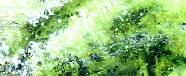 Spring Hedgerow I, Original Painting by Joe Webster