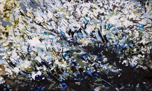 Blackthorn Blossom by Landscape-Graffiti Artist Joe Webster